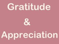 Gratitude and Appreciation