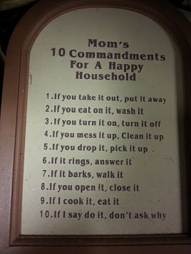 10 Commandments happy household