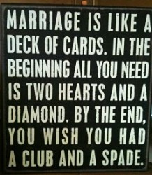 Funny saying about marriage